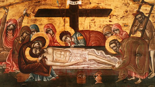 The Lamentation at the Tomb, Savvathianon Monastery, Rogdia, Heraklion, 17th c.