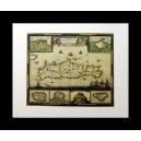 Δίφυλλη κάρτα με χάρτη της Κρήτης. Frederick de Wit: Insula Candia