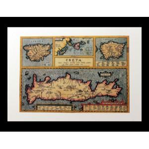 Χάρτης  A.Ortelius ''Creta''
